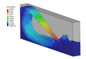 Análisis de estructuras hidráulicas con el modelo SPH